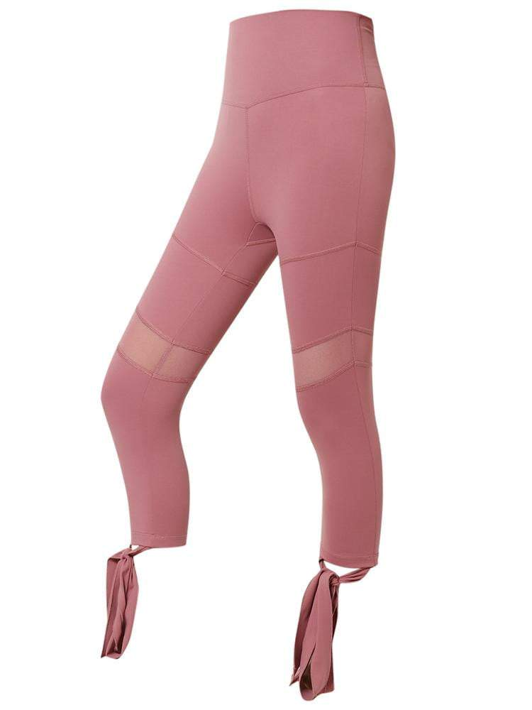 Sloli Capris Mesh Tights with Strap Hem XS / Pink