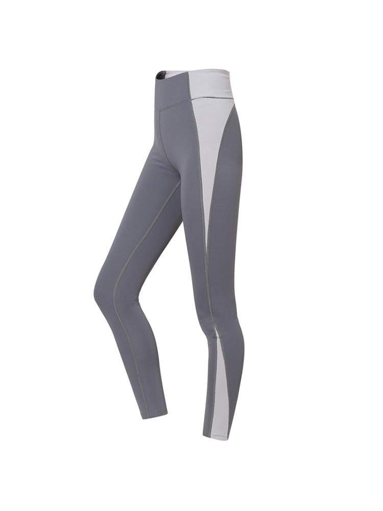 Sloli Strechable Color Scheme Sports Leggings XS / Gray