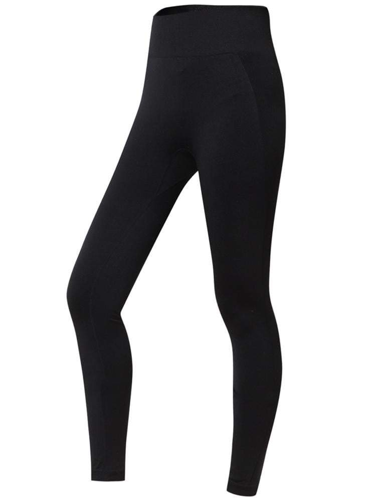 Sloli High Elastic Hip-Up Sports Leggings S / Black