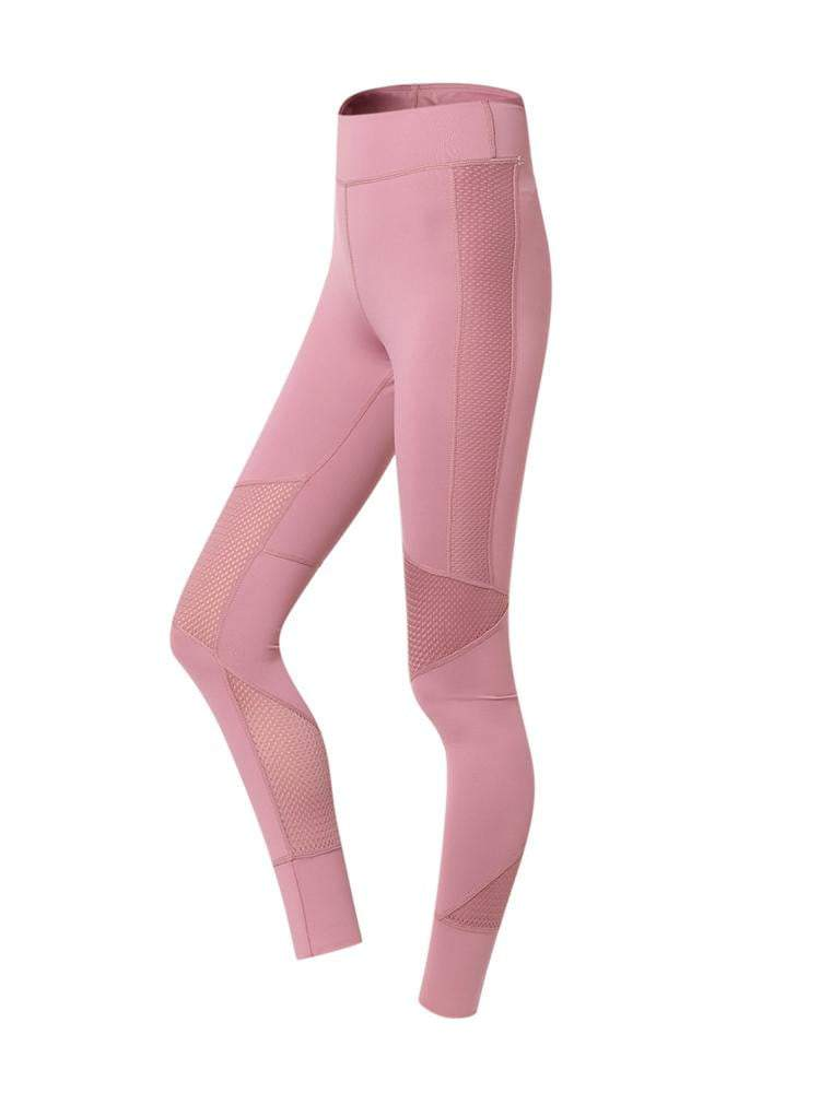 Sloli High Waist Breathable Material Sports Mesh Tight XS / Pink