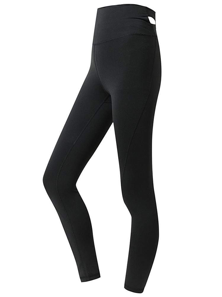 Sloli Stretch Material Hip Up Yoga Leggings XS / Black