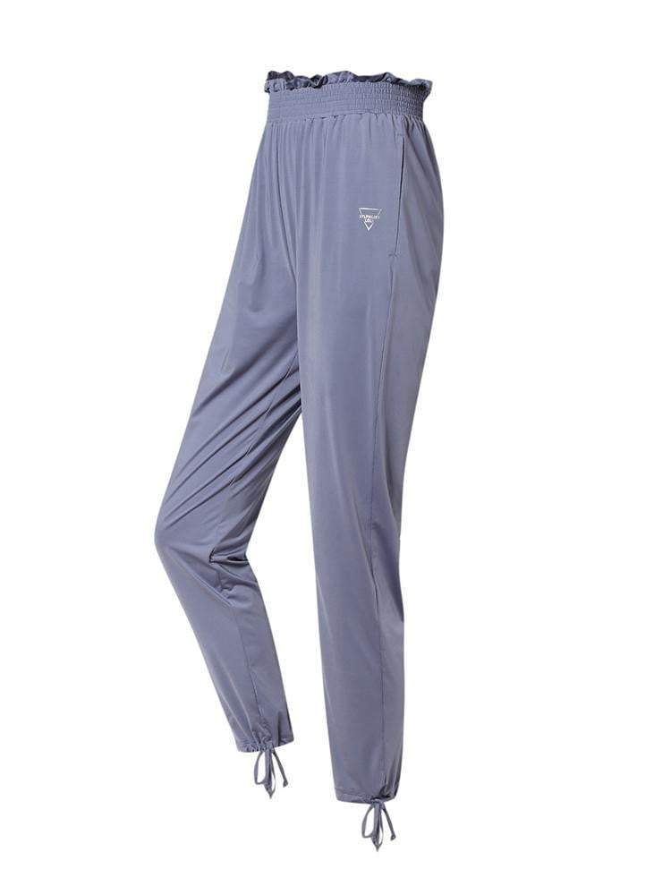 Sloli Casual Pants With Frills XS / Blue