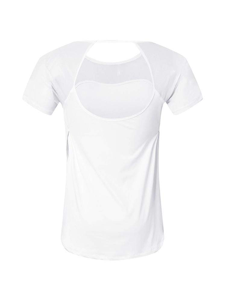 Sloli Casual Back Slit Long Sleeve T-Shirt Tee Top XS / White