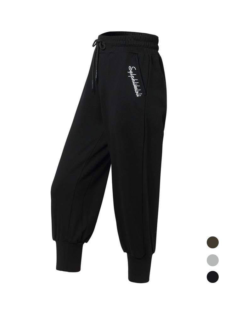 Sloli Sports Capris Casual Pants XS / Black