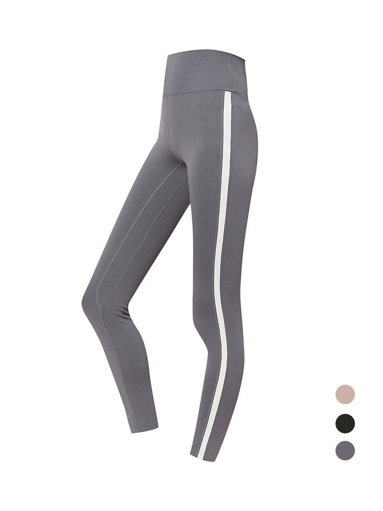 Sloli Color Scheme Stylish Sports Training Leggings XS / Gray
