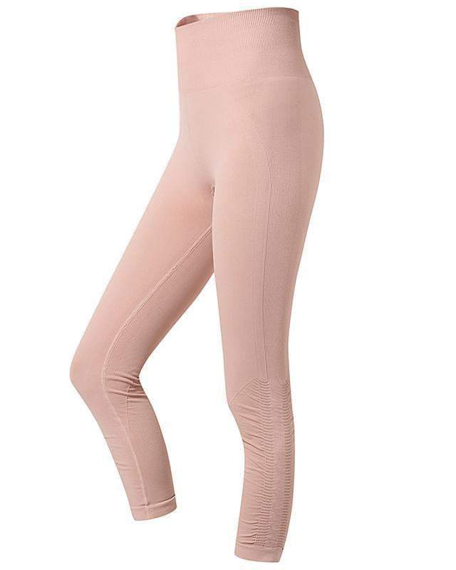 Sloli Capris Sports Leggings - 2 Colors Available S / Pink