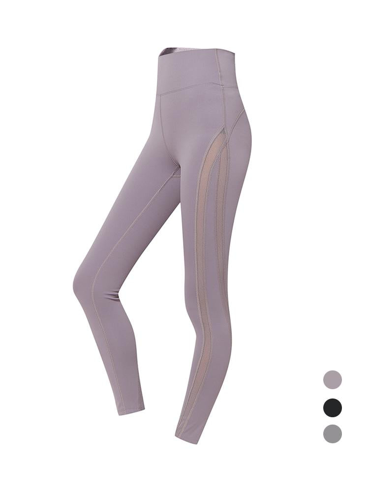 Sloli Mesh Sports Yoga Leggings XS / Purple