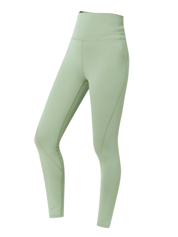 Sloli Stretch Material Hip Up Yoga Leggings XS / Green