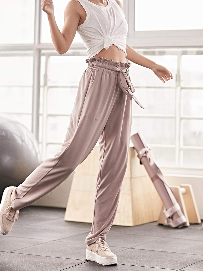 Sloli High Waisted Casual Long Pants