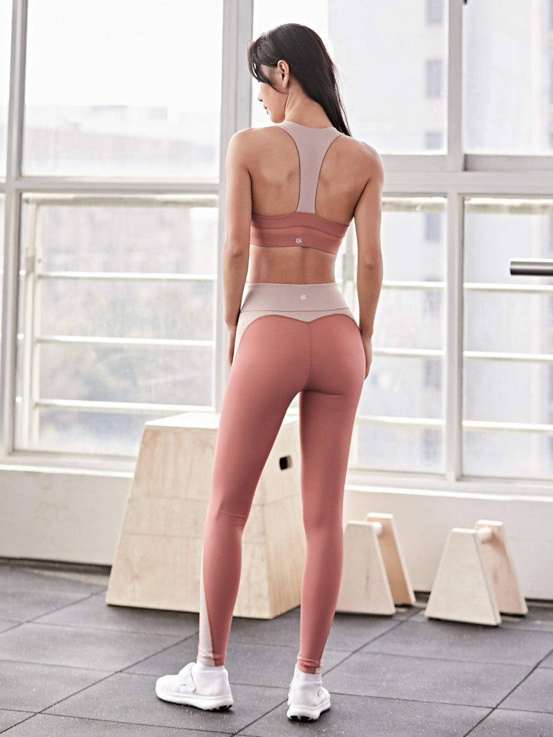 Sloli Strechable Color Scheme Sports Leggings