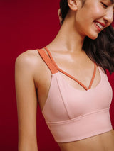 Sloli Bi-Pure Color Collocation Anti Vibration Sports Bra
