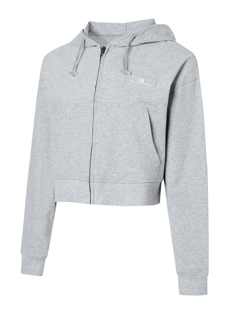 Sloli Cotton Short Length Hoodie S / gray