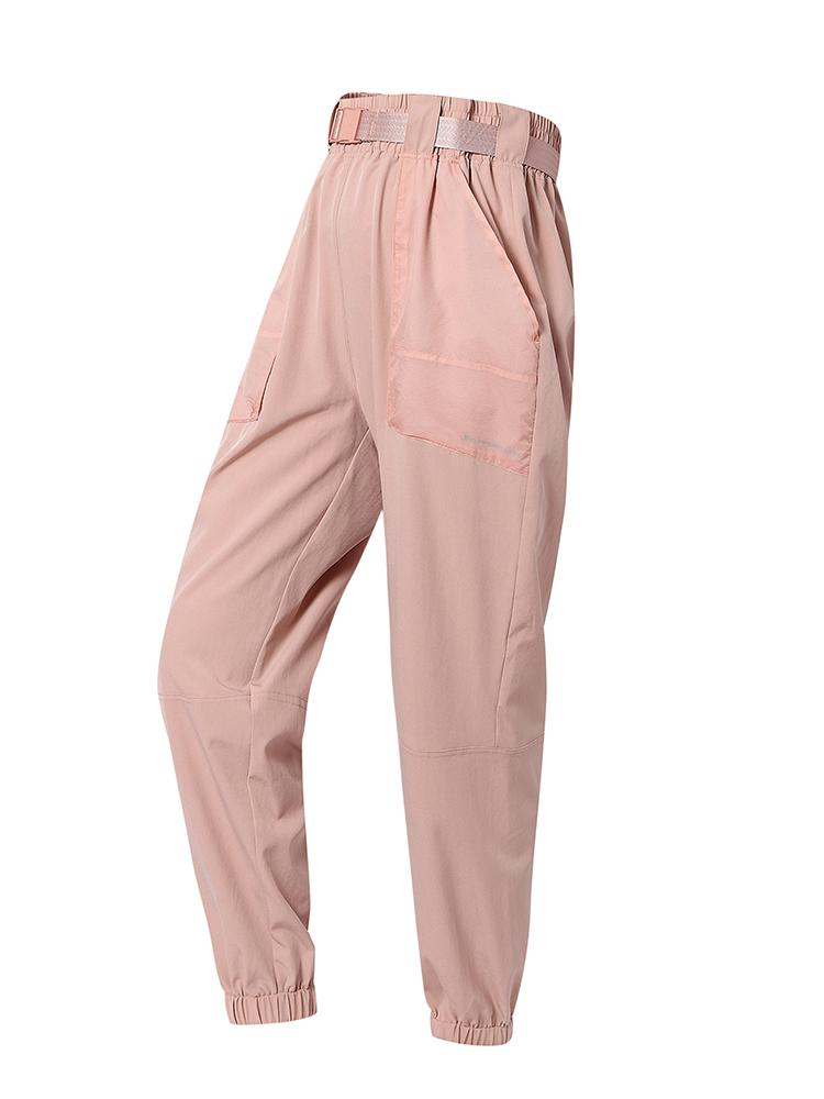 Sloli Thin Casual Pants with Belt XS / Pink