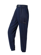 Sloli Thin Casual Pants with Belt XS / Navy Blue
