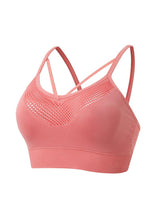 Sloli V Neck Sports Bra for Low Impact Training S / Orange Pink