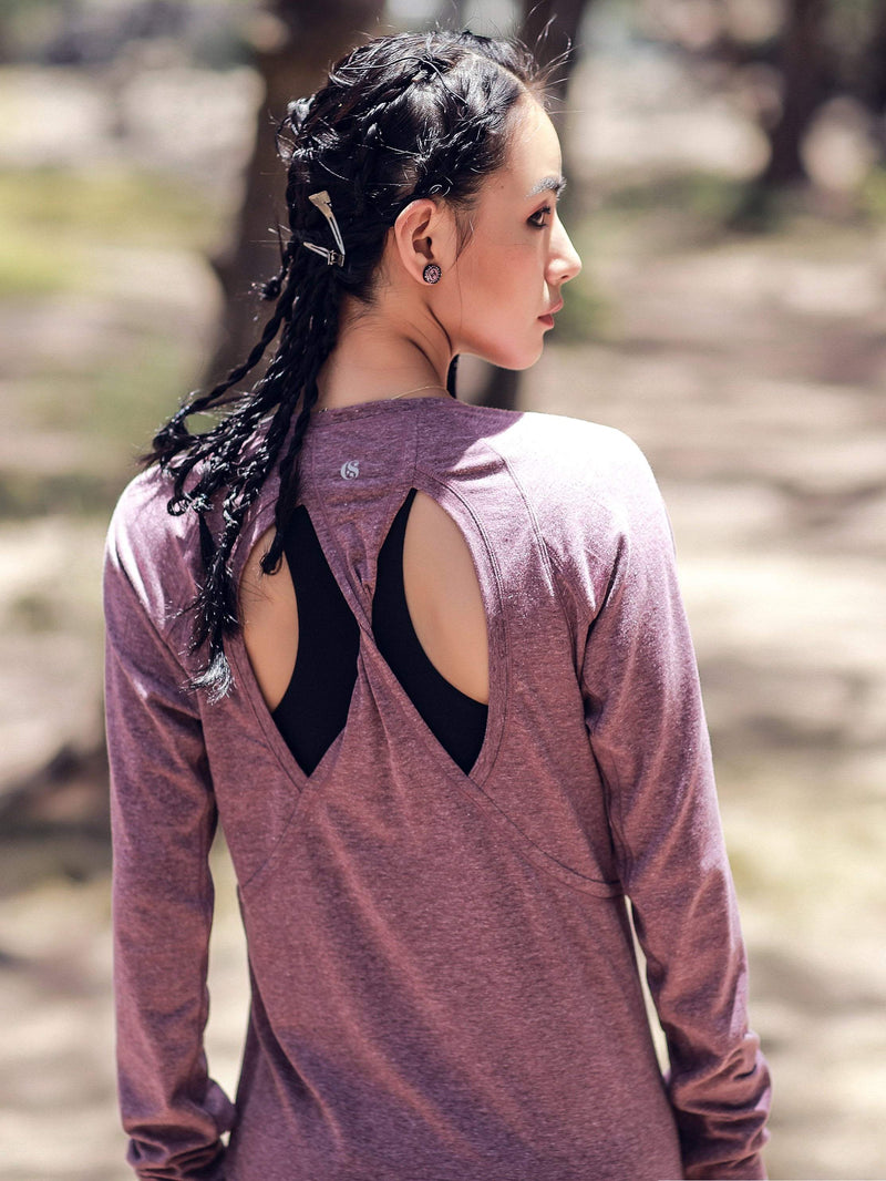 Hollow Back Women Long Sleeves