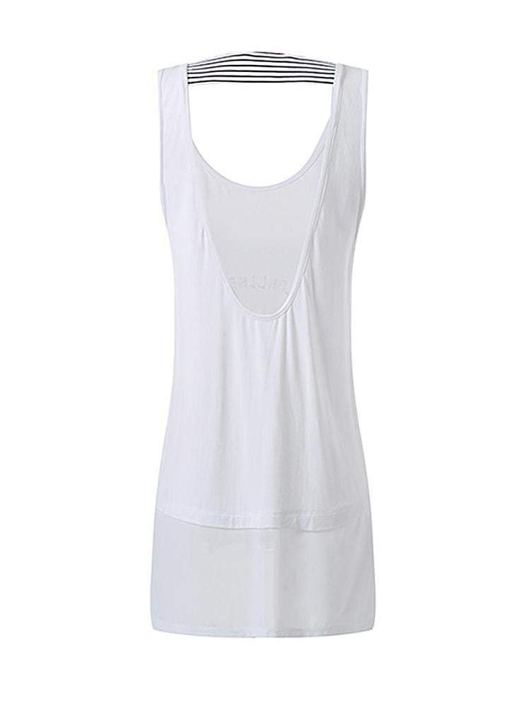 Sloli Long Length Backless Sports Tank Top Vest