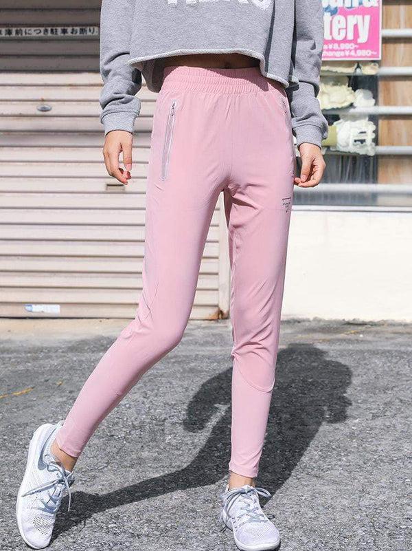 Running Yoga Trousers with Zipper Pockets