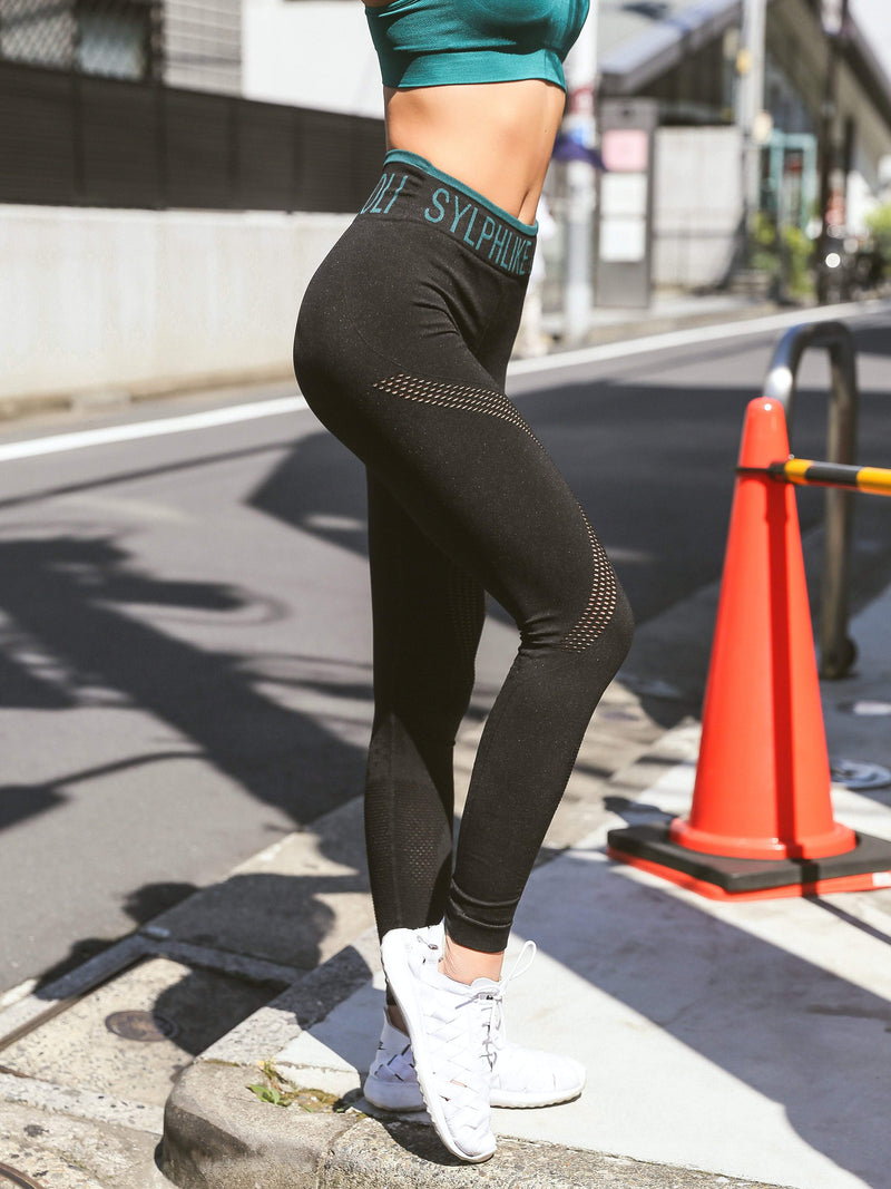 Sloli High Waist Sports Yoga Leggings Sports Tights