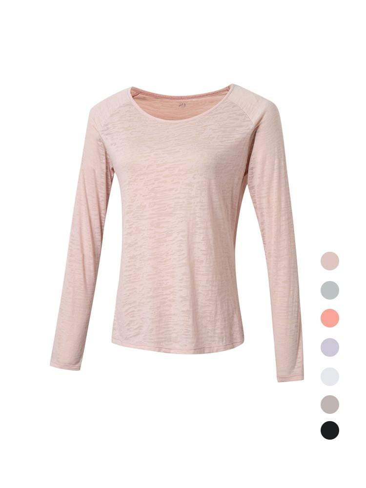 Sloli Long-Sleeved Mesh Sports Shirt XS / Pink