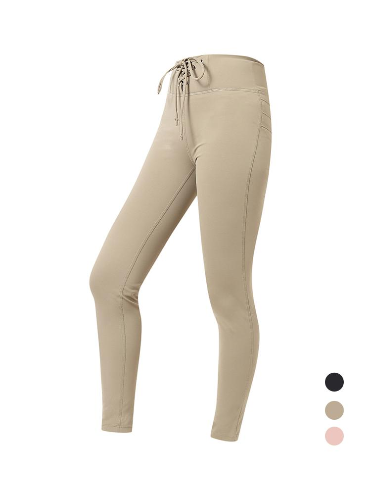 Sloli High Waist Hip Up Leggings XS / Khaki
