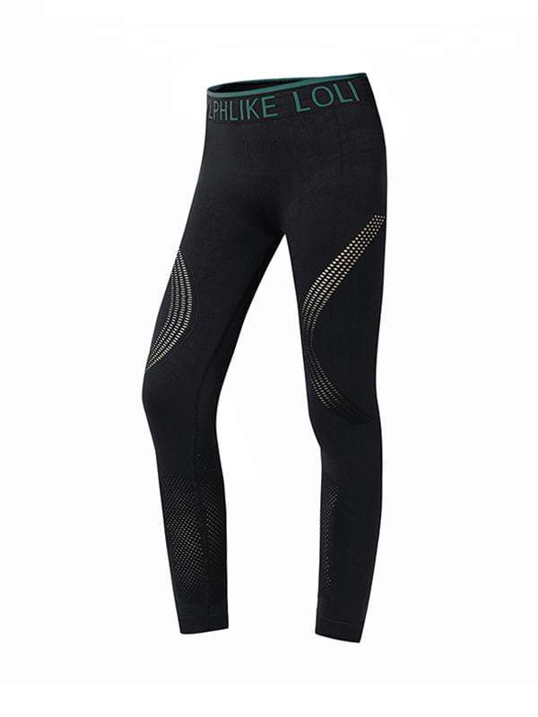 Sloli High Waist Sports Yoga Leggings Sports Tights L / Green