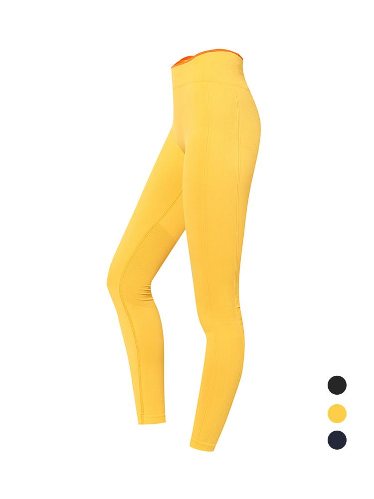 Sloli Breathable Color Scheme Sports Legging S / Yellow