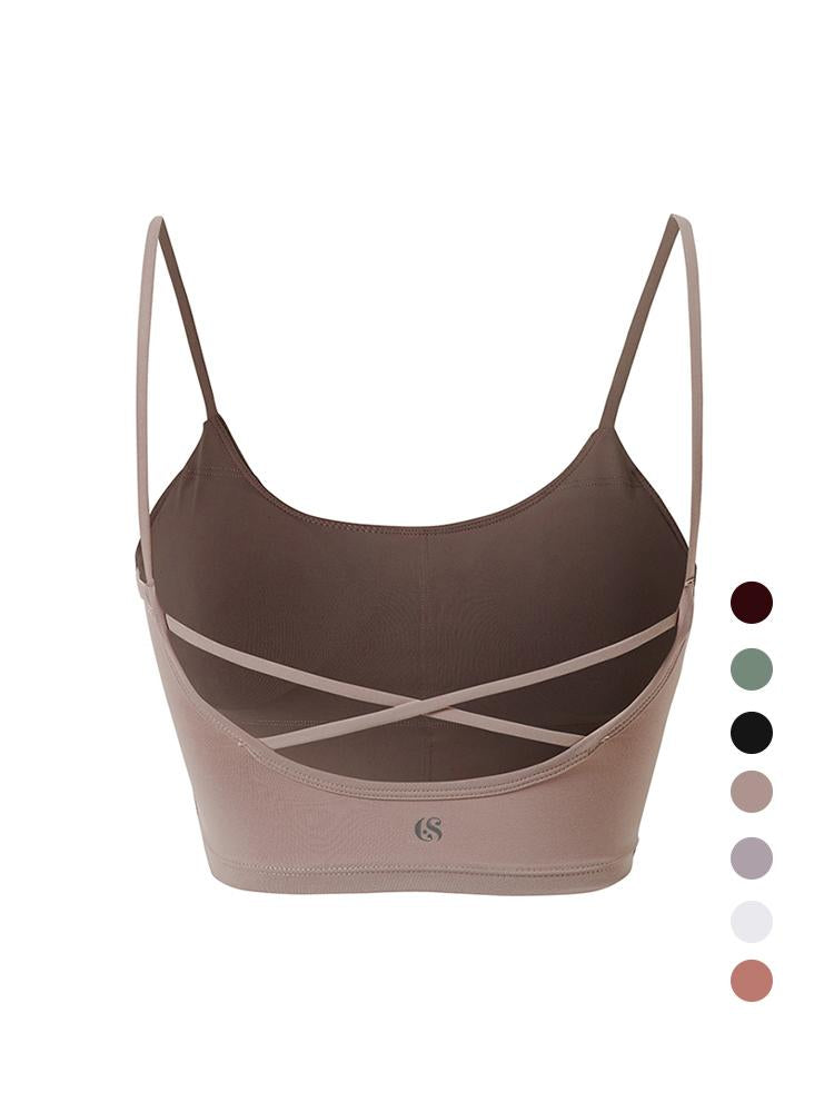 Sloli Colorful Camisole Crossback Bra XS / Pink