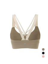 Sloli Bi-Pure Color Collocation Anti Vibration Sports Bra XS / Gray&Khaki