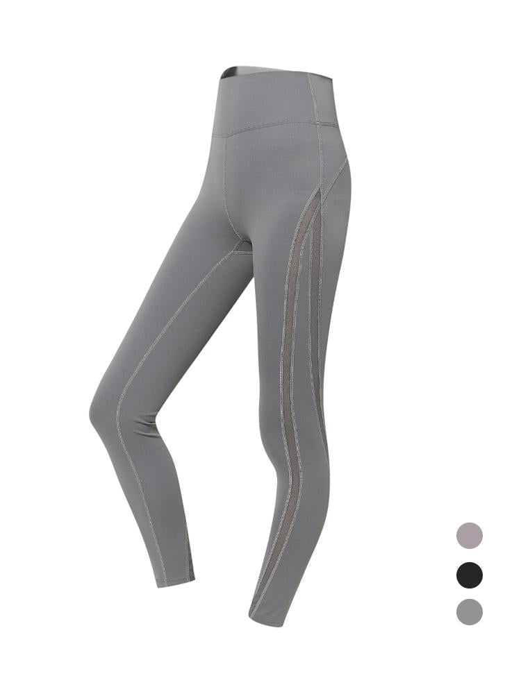 Sloli Mesh Sports Yoga Leggings XS / Gray