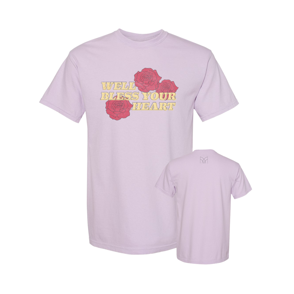 Bless Your Heart - Custom Dyed T-Shirt - Orchid