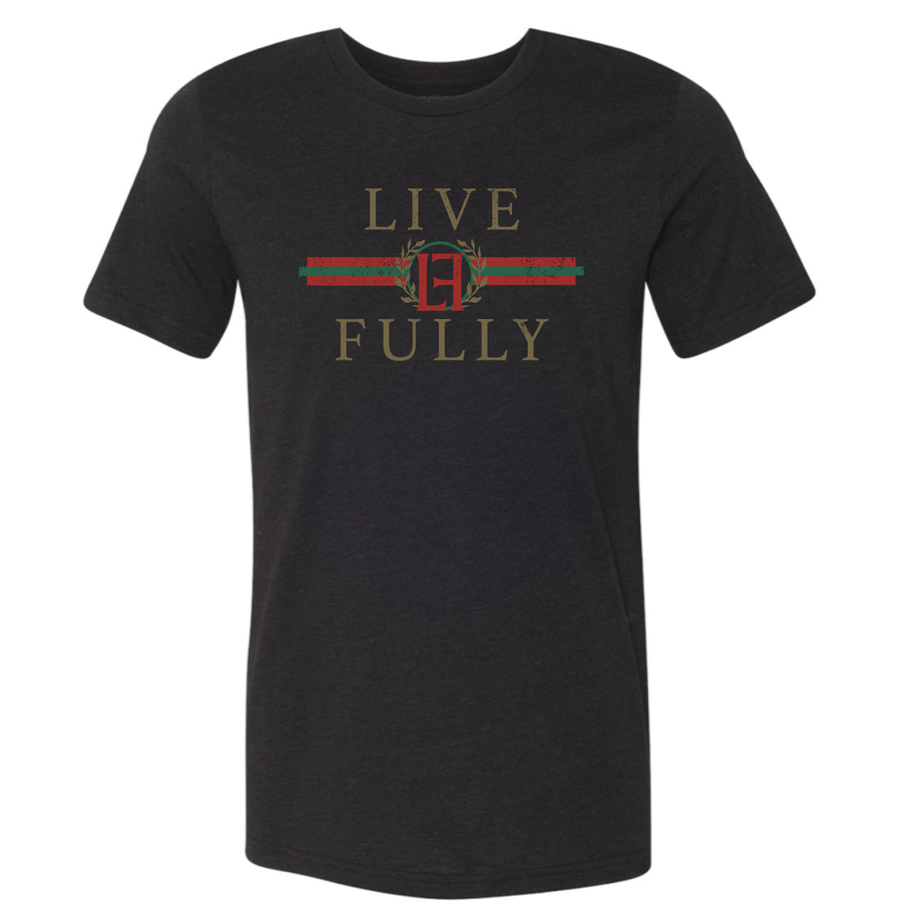 PRESALE - LF Holiday Stripes - Unisex/Men's Crew - Black