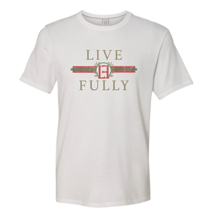 PRESALE - LF Holiday Stripes - Unisex/Men's Crew - White
