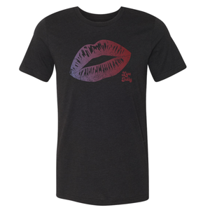 Live Fully - Lips - Unisex/Men's Crew - Black