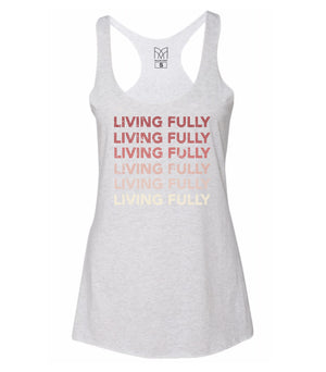 SOLD OUT - Gradient - Women's Racerback Tank - White