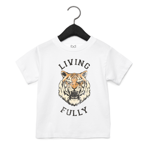 PRESALE - Tiger - Toddler Unisex Crew - White