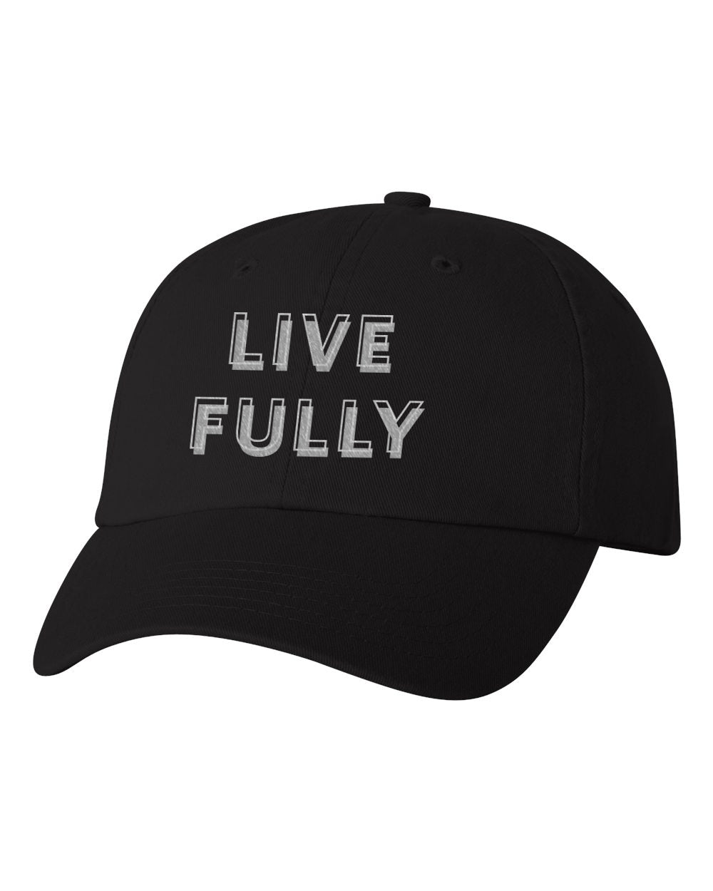 Live Fully - Unisex Dad Cap - Black