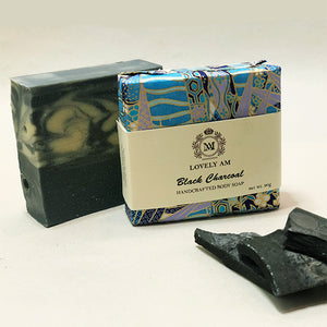 Black Charcoal Handcrafted Body Soap Bar - Lovely AM
