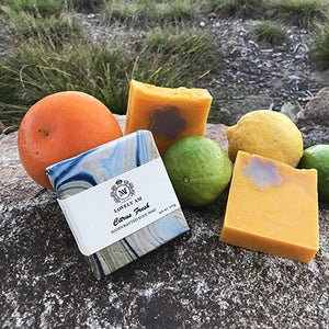Citrus Fresh Handcrafted Body Soap Bar - Lovely AM