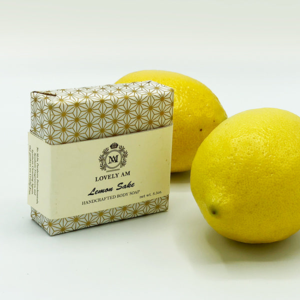 Lemon Sake Handcrafted Body Soap - Lovely AM