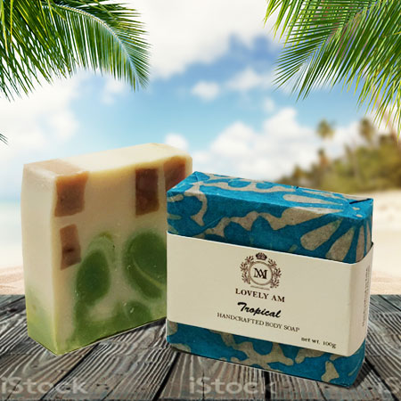 Tropical Handcrafted Body Soap Bar - Lovely AM