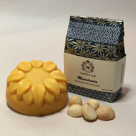 Macadamia Handcrafted Face Soap Bar - Lovely AM