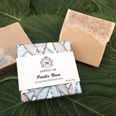 Perilla Neem Handcrafted Body Soap Bar - Lovely AM