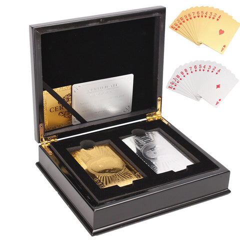 Silver and Gold Foil Boxed Card Set