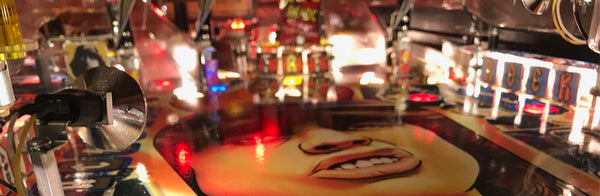 AC/DC Pinball Playfield with Comet LEDs