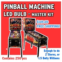 250 Piece Universal Pinball Machine LED Kit
