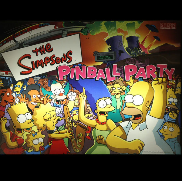 Simpsons Pinball Party Kit, Inserts Only, with OCD Board
