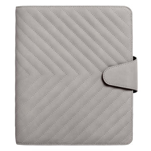 2021 A5 Quilted Soft Touch Time Planner Grey PREORDER