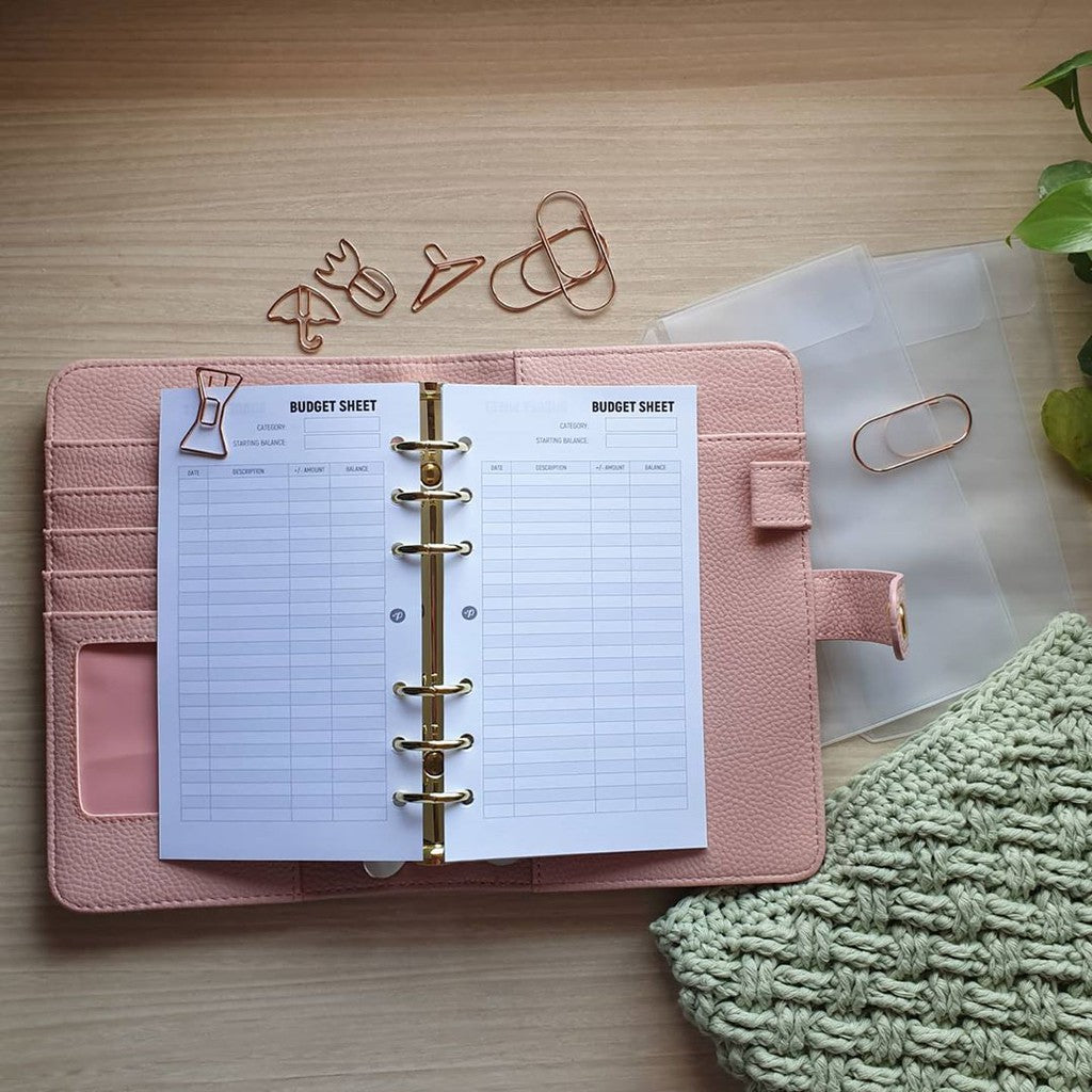 Budget Sheet Planner Refill for Kikki.K Kate Spade Filofax and other Planners