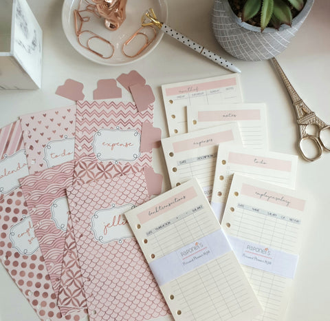 Rose Gold Planner Refill for Personal Medium LV MM